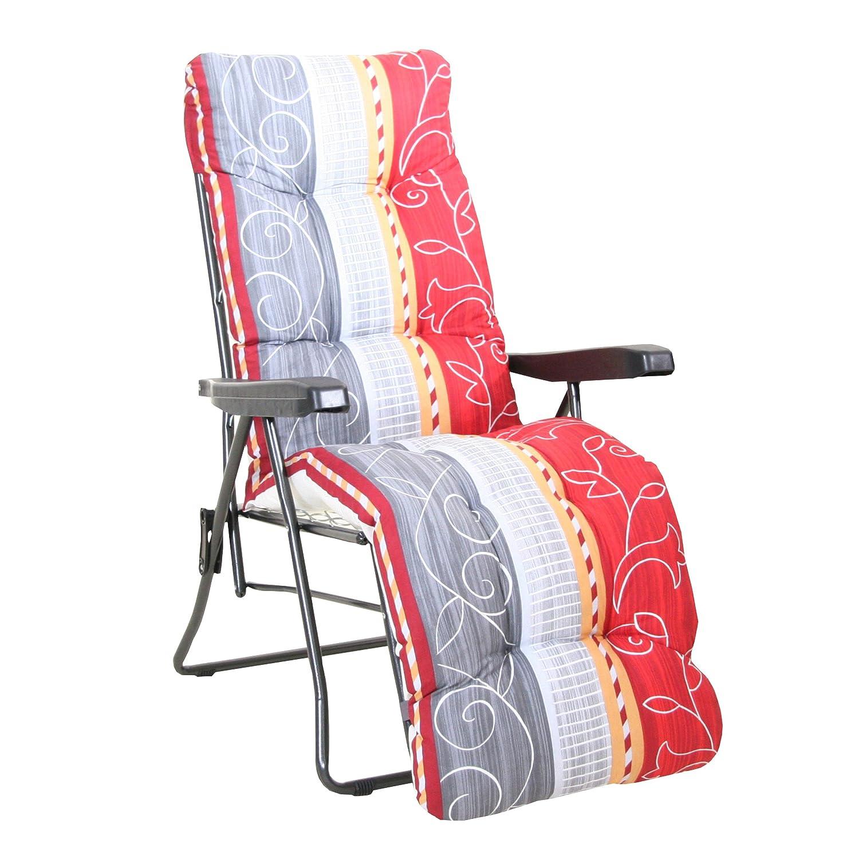 greemotion relaxsessel kiel anthrazit dessin gartenstuhl mit 7 fach verstellbare ebay. Black Bedroom Furniture Sets. Home Design Ideas