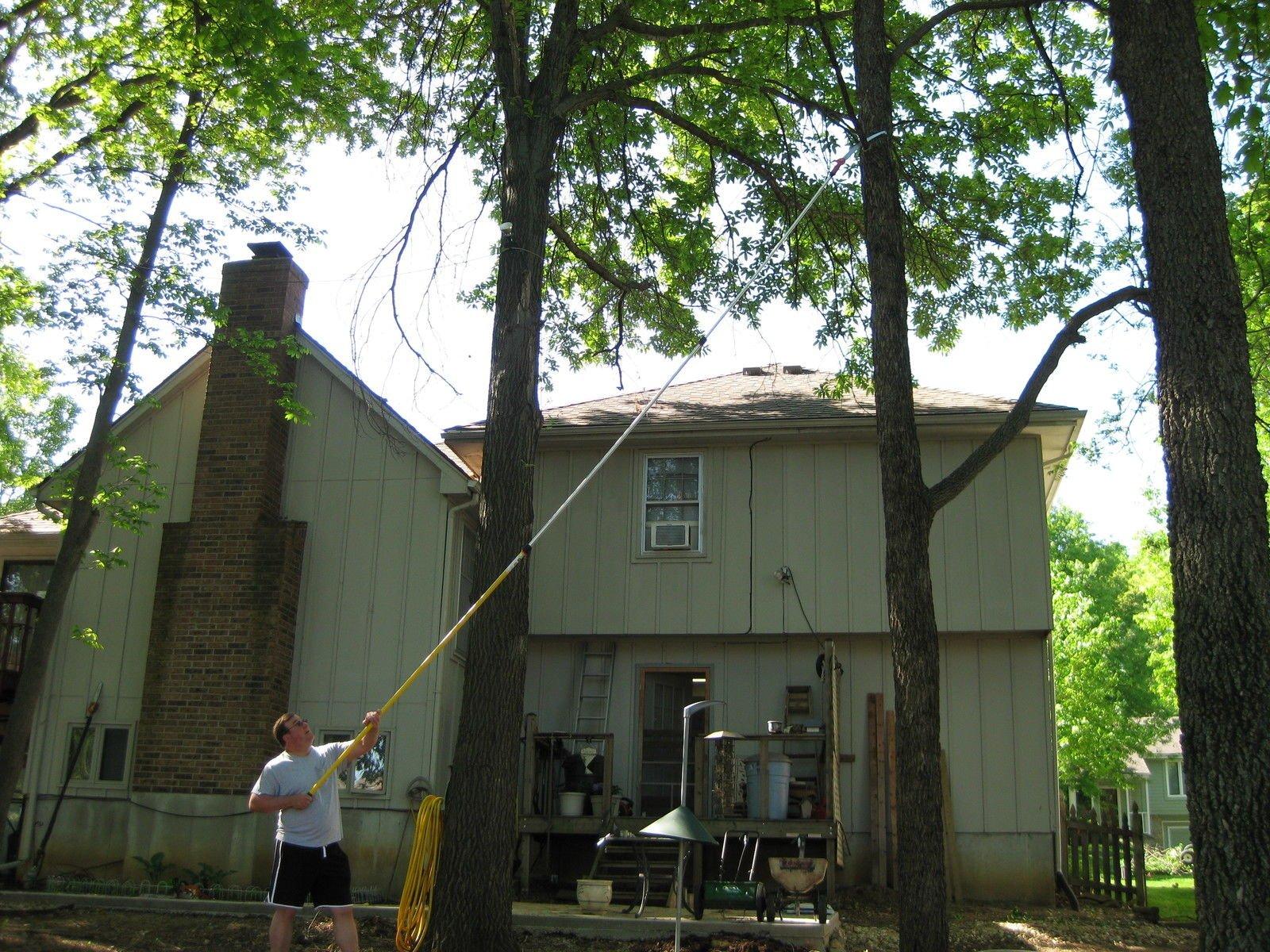 USA Premium Store 27 FOOT POLE SAW Tree Trimmer Saw Tree Pruner Tree Saw