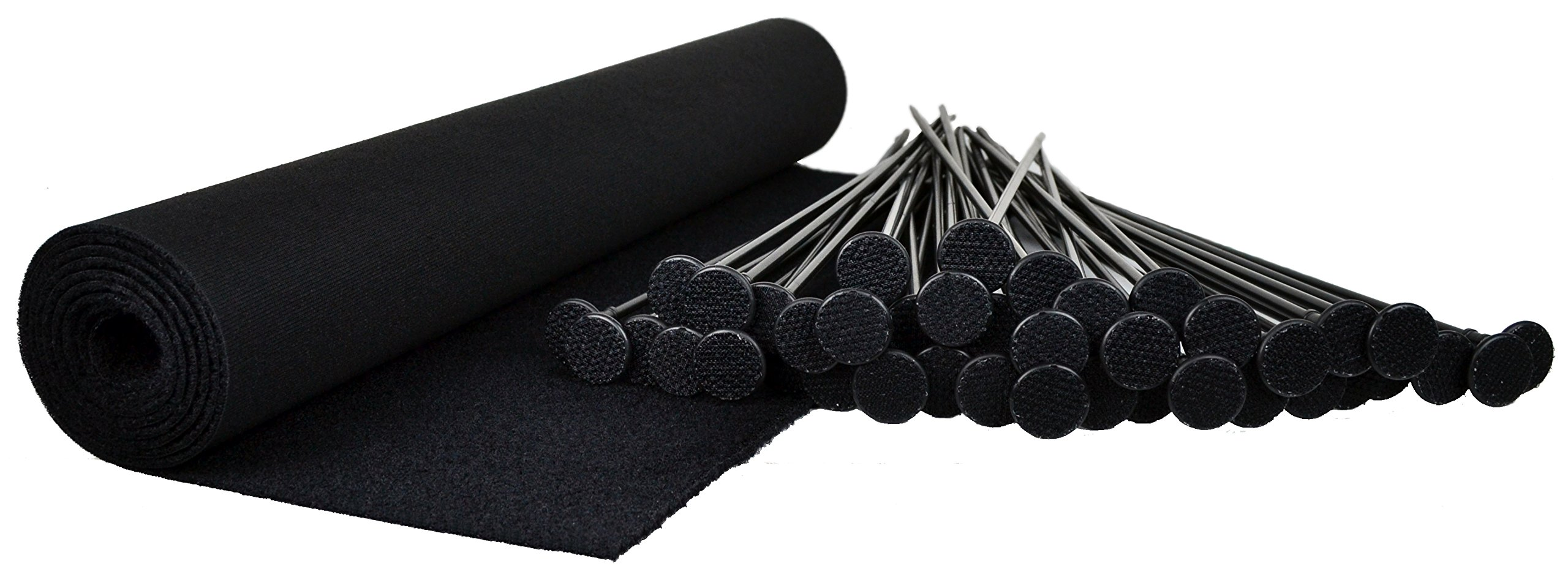 Gun Storage Solutions Pack of 40 Rifle Rods Starter Kit with Loop Fabric (60 x 19-Inch)