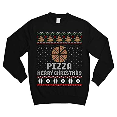 e57af75f Merry Christmas Pizza Lover Funny Ugly Sweater Shirt - Noel Merry Xmas  Sweatshirt at Amazon Men's Clothing store: