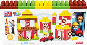 Mattel Mega Bloks First Builders Cng27 Friendly Farm Building And Construction Toys Amazon Co Uk Toys Games