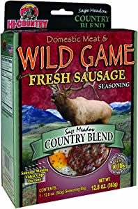 Hi-Country Snack Foods Domestic Meat and Wild Game 12.8 oz. Country Blend Home Made Fresh Ground Style Sausage Spice Kit-No MSG