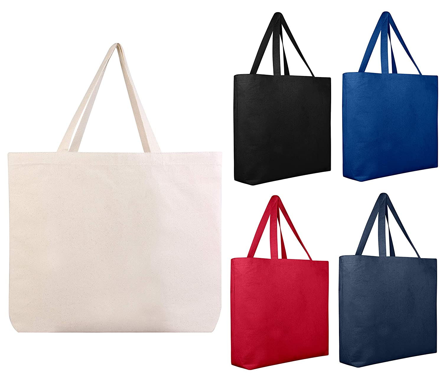 ac37a3408403 12 PACK Large Heavy Canvas Beach Tote Bag Boat Bag - Canvas Deluxe Tote  Bags BULK Wholesale tote bags Canvas bags Lot Cheap Tote Bags Customizable  ...