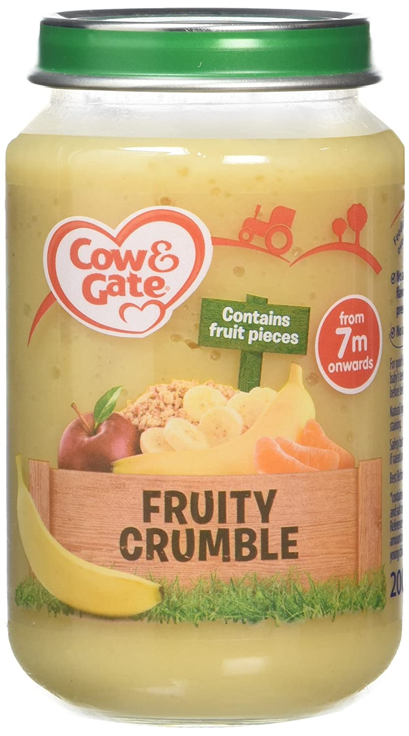 Cow & Gate Fruity Crumble from 7 Months Onwards Baby Food Jar, 200 g Cow and Gate 108157464