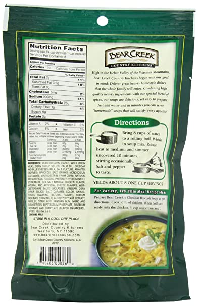 Marvelous Amazon.com : Bear Creek Country Kitchens Soup Mix, Cheddar Broccoli, 8.8  Ounce (Pack Of 6) : Packaged Chowders Soups : Grocery U0026 Gourmet Food