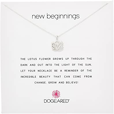 Dogeared jewels gifts reminder silver new beginnings rising lotus dogeared jewels gifts reminder silver new beginnings rising lotus charm necklace dogeared jewels gifts amazon jewelry mightylinksfo