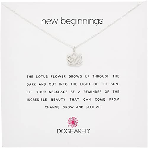 Dogeared Jewels & Gifts Reminder Silver New Beginnings Rising Lotus Charm Necklace
