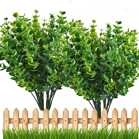 Artificial Plant Eucalyptus Leave Outdoor Shrubs Plastic Fake