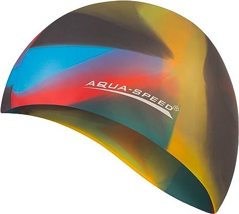 Aqua Speed® Bunt Gorro de baño (Natación Silicona Colorida ...