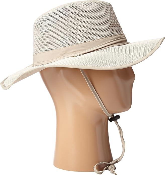 79ff2bcbda2a1f Men's Big Brim Mesh Safari with No Fly Zone Insect Shield Fabric Khaki Hat
