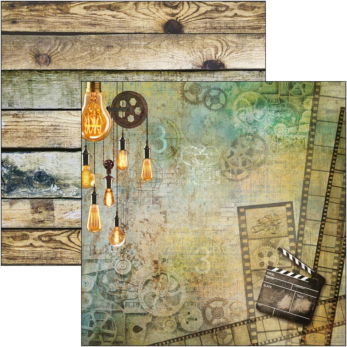 8 Designs//1 Ciao Bella Double-Sided Paper Pack 90lb 12X12 8//Pkg-Modern Times