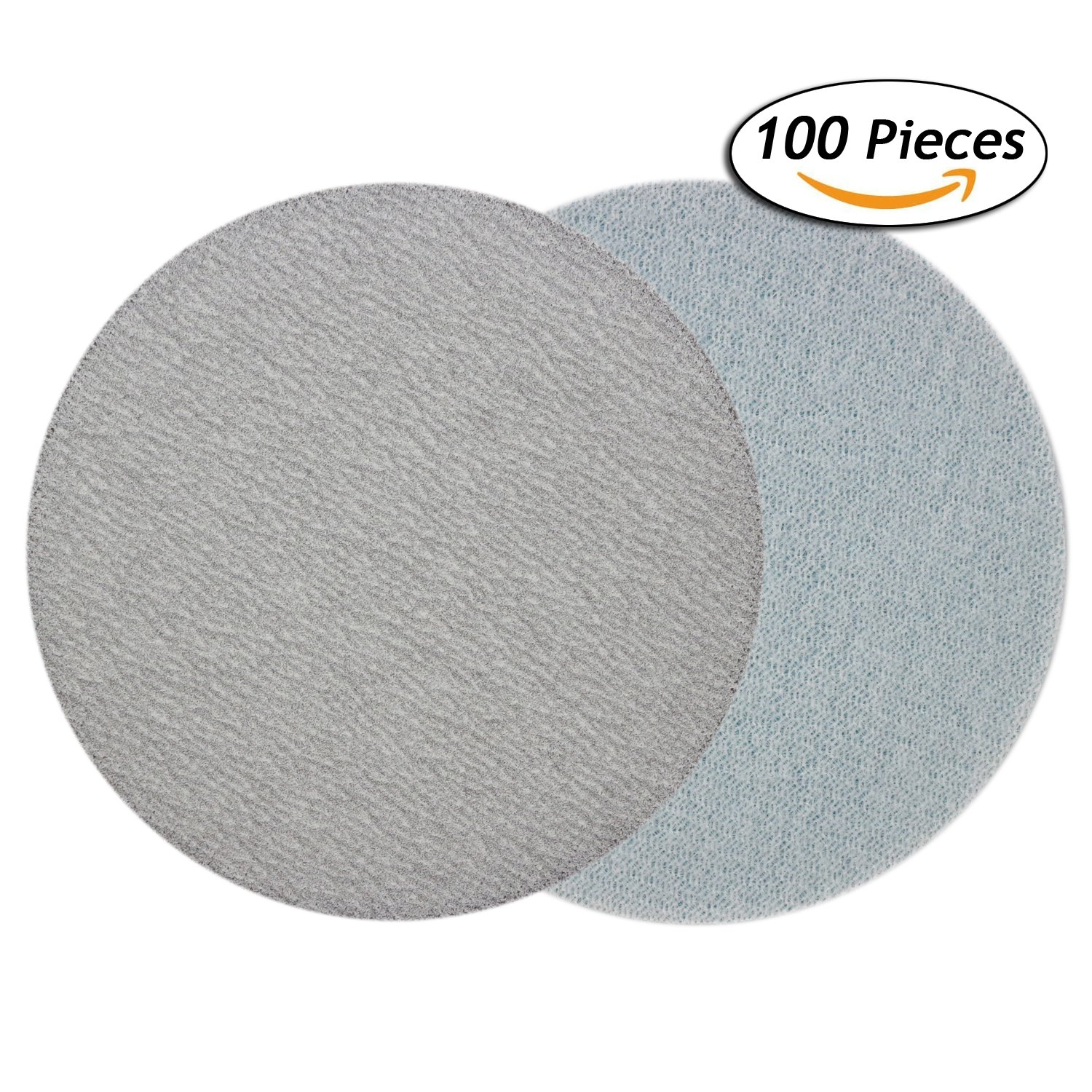 3 Inch 240 Grit Aluminum Oxide White Dry No Holes Hook and Loop Sanding Discs for 3'' Sanding Pads, 100-Pack