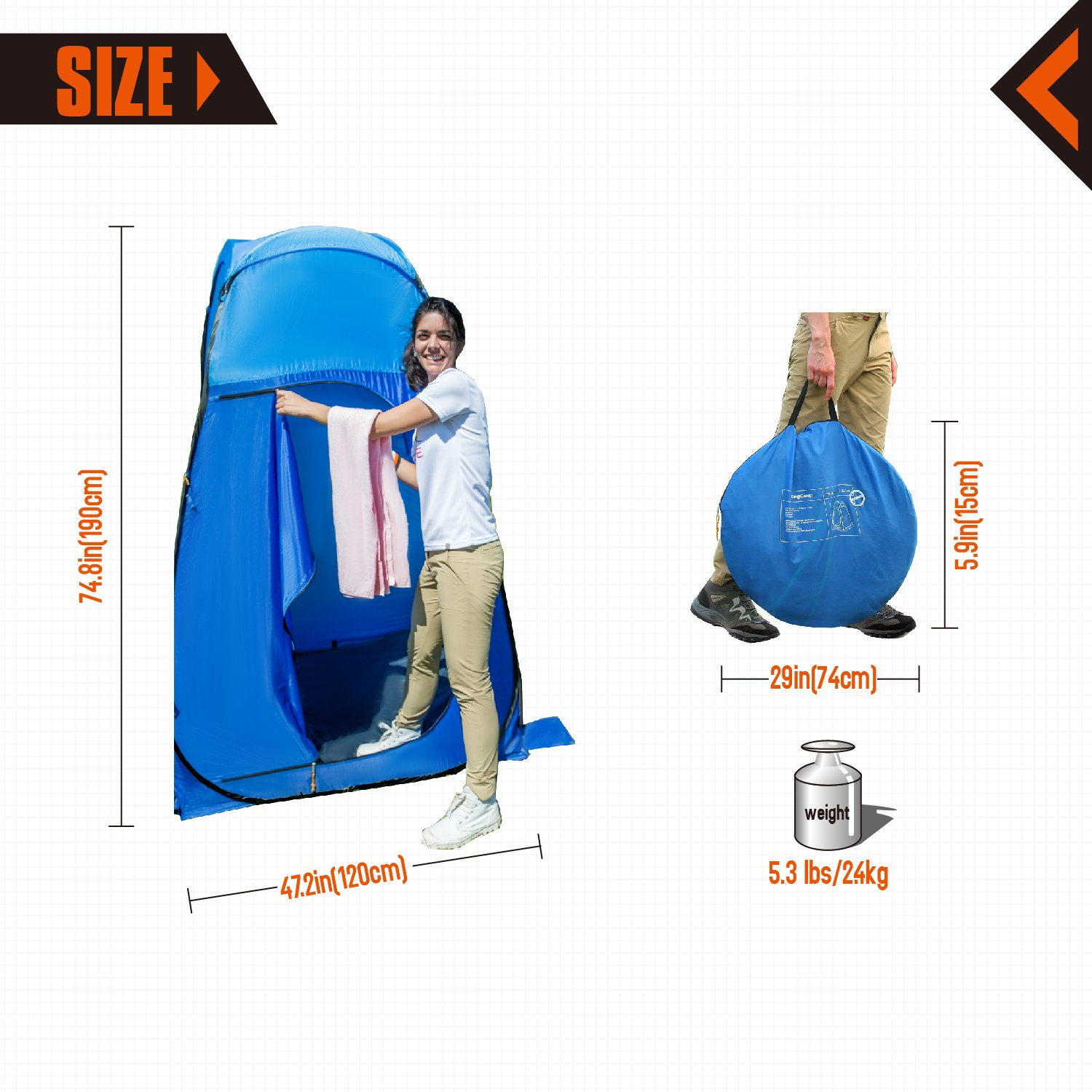 Kingcamp Portable Pop Up Privacy Shelter Privy Tent