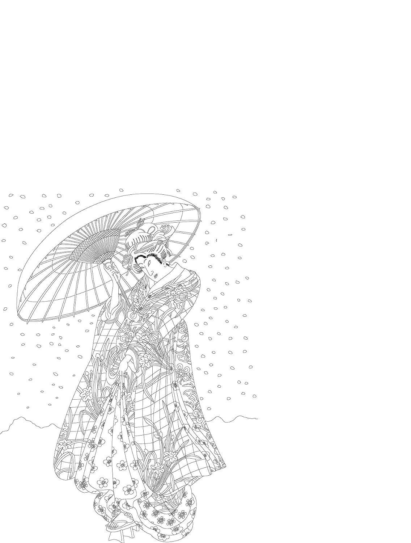 Pepin Kimono Carta di Tipo Libro 25 X 34.5 cm 16 designs printed on high-quality drawing paper