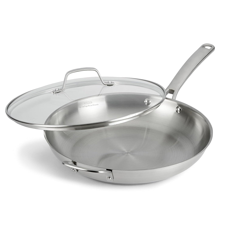 Amazon.com: Calphalon Classic Stainless Steel Cookware, Fry Pan, 12 ...