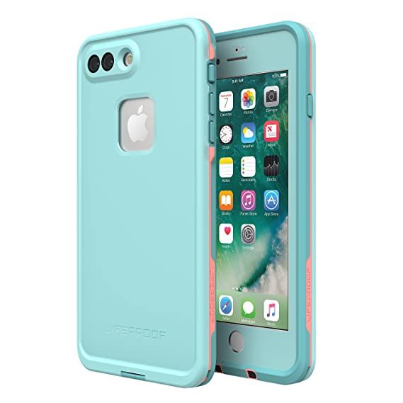 cheap for discount 3c955 533ad Lifeproof FRĒ SERIES Waterproof Case for iPhone 8 Plus & 7 Plus (ONLY) -  Retail Packaging - WIPEOUT (BLUE TINT/FUSION CORAL/MANDALAY BAY)