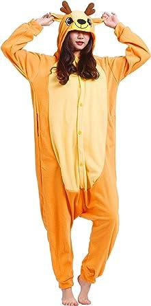 Adulte Unisexe Anime Animal Costume Cosplay Combinaison Pyjama Outfit Nuit Vetements Onesie Halloween Costume Soiree de Deguisements
