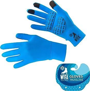 WIFA Eislauf und Sport Handschuhe gepolstert mit Gel Polsterung Touchscreen rutschfest atmungsaktiv f/ür Kinder und Erwachsene