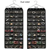 BB Brotrade Hanging Jewelry Organizer,Accessories Organizer,Oxford 80 Pocket Organizer for Holding Jewelries (Black)