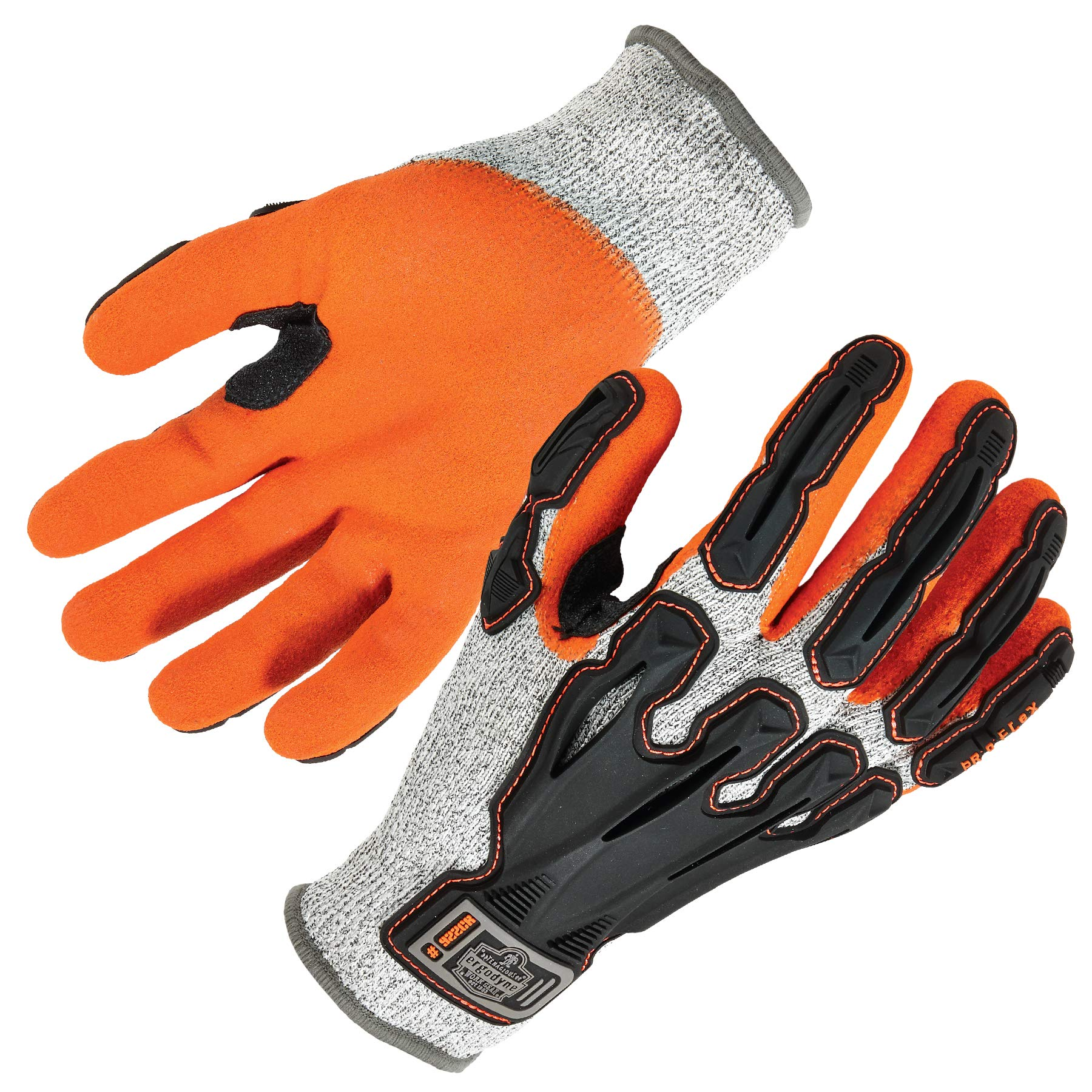 Nitrile Dipped Work Gloves, Cut Resistant, Cut Level A3, Back Hand Impact Protection, Ergodyne ProFlex 922CR, Small