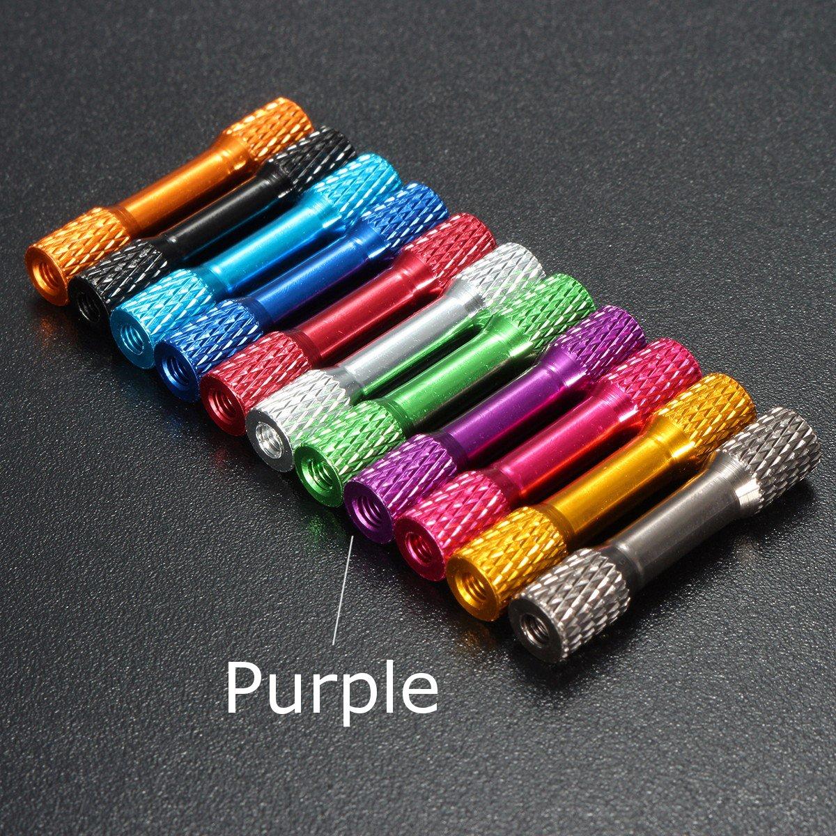 tobytools 10pcs M3 aleació n de aluminio 35 mm moleteada para PCs Multi Color Farwind