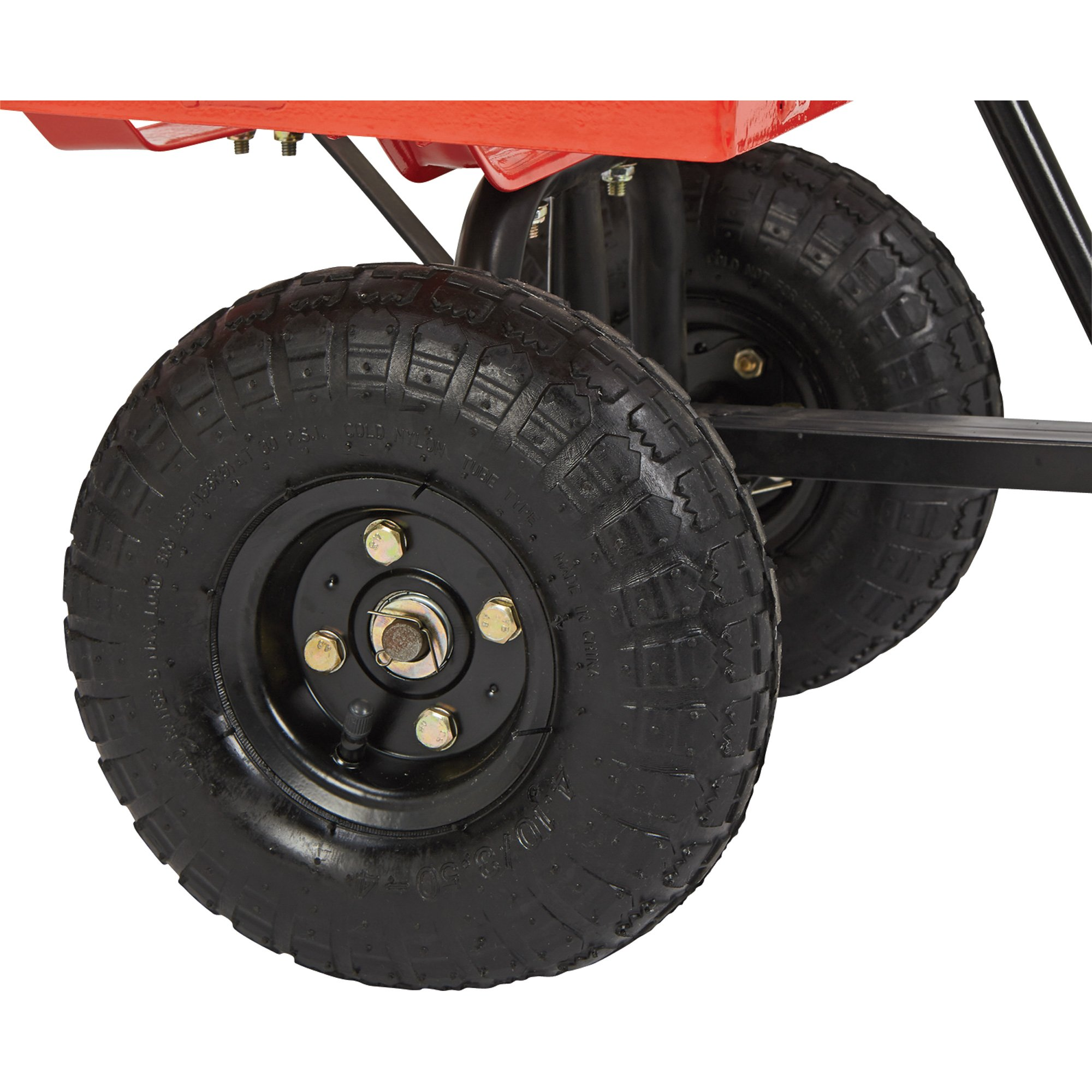 Steel Cart, 34in.L x 18in.W, 400-Lb. Capacity by Ironton (Image #5)