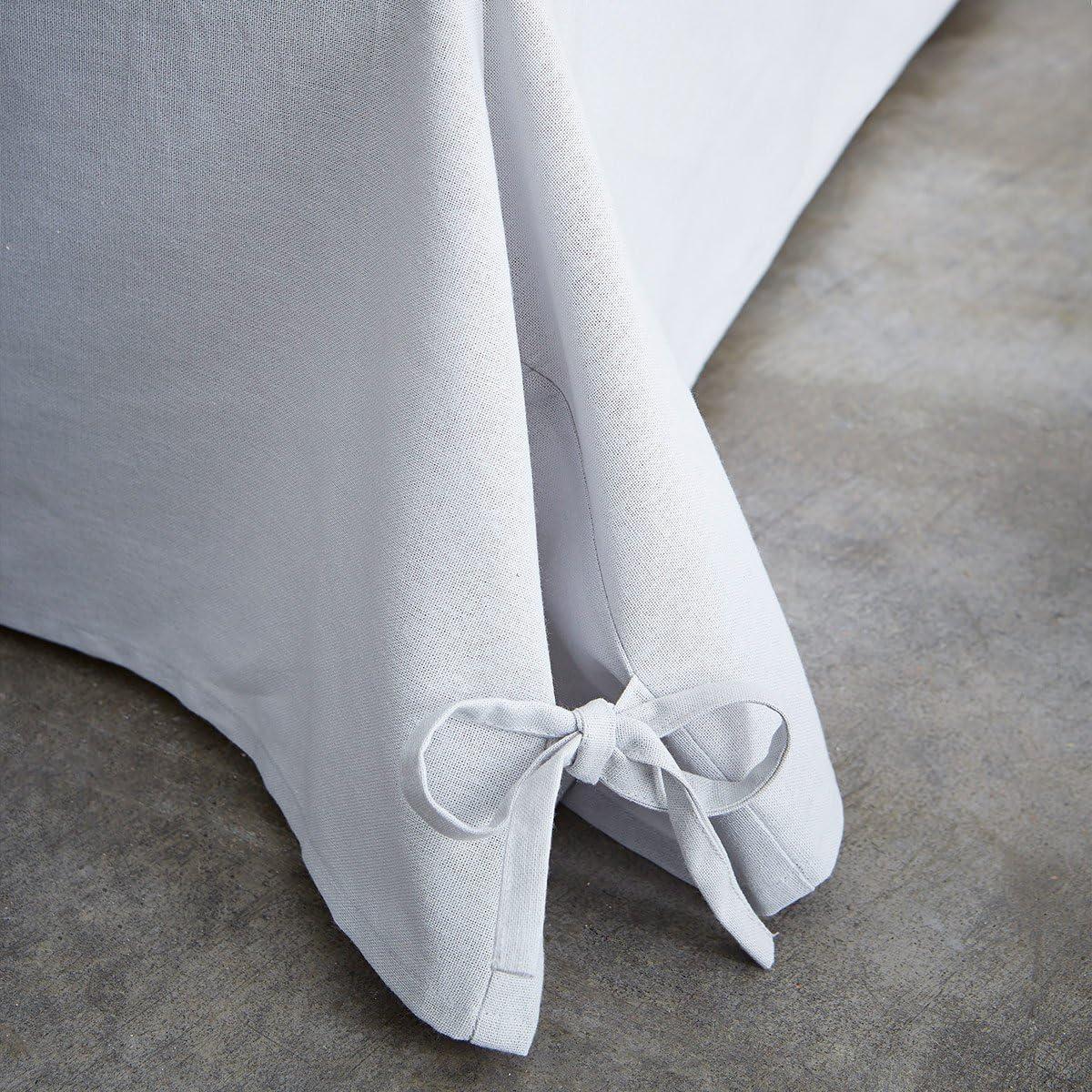TODAY 576334 Cache - Funda de somier, algodón/Tela Tejida/Polipropileno, algodón, Gris Zinc, 140x190 cm
