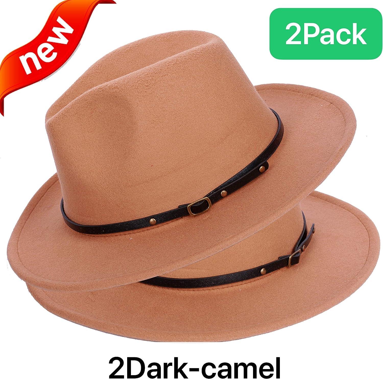 Fedora Panama Hat (3 Pack)...