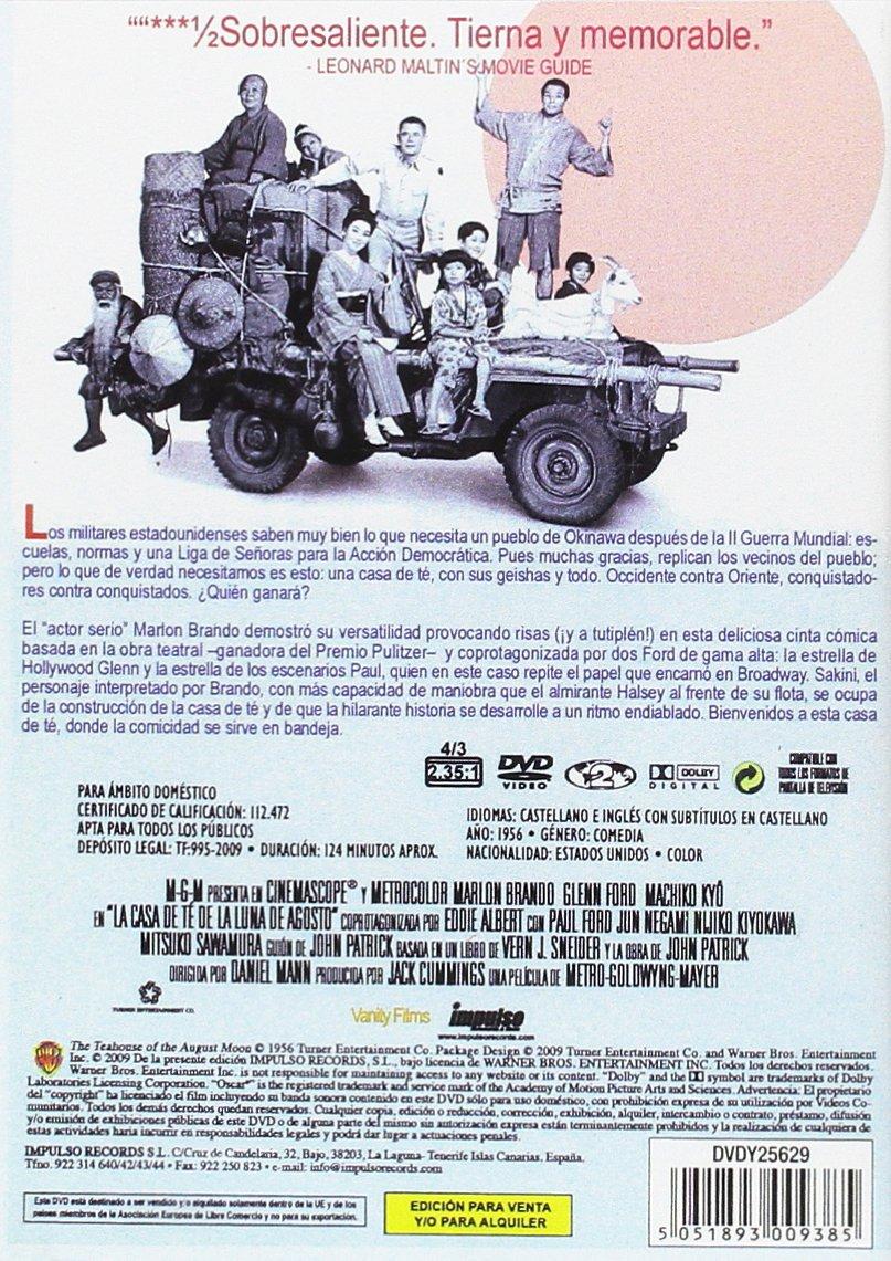 Amazon.com: The Tea House of the August Moon [PAL]: Marlon Brando, Glenn Ford, Machiko Kyô, Eddie Albert, Paul Ford, Jun Negami, Nijiko Kiyokawa, ...