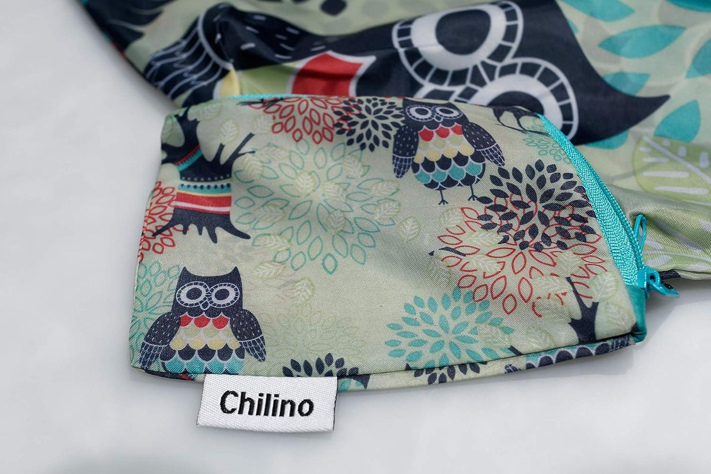 Chilino Hibou Sac de Voyage Pliable Vert 47 x 41 cm