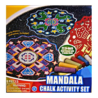 Mandala Sidewalk Chalk Activity Set: Toys & Games