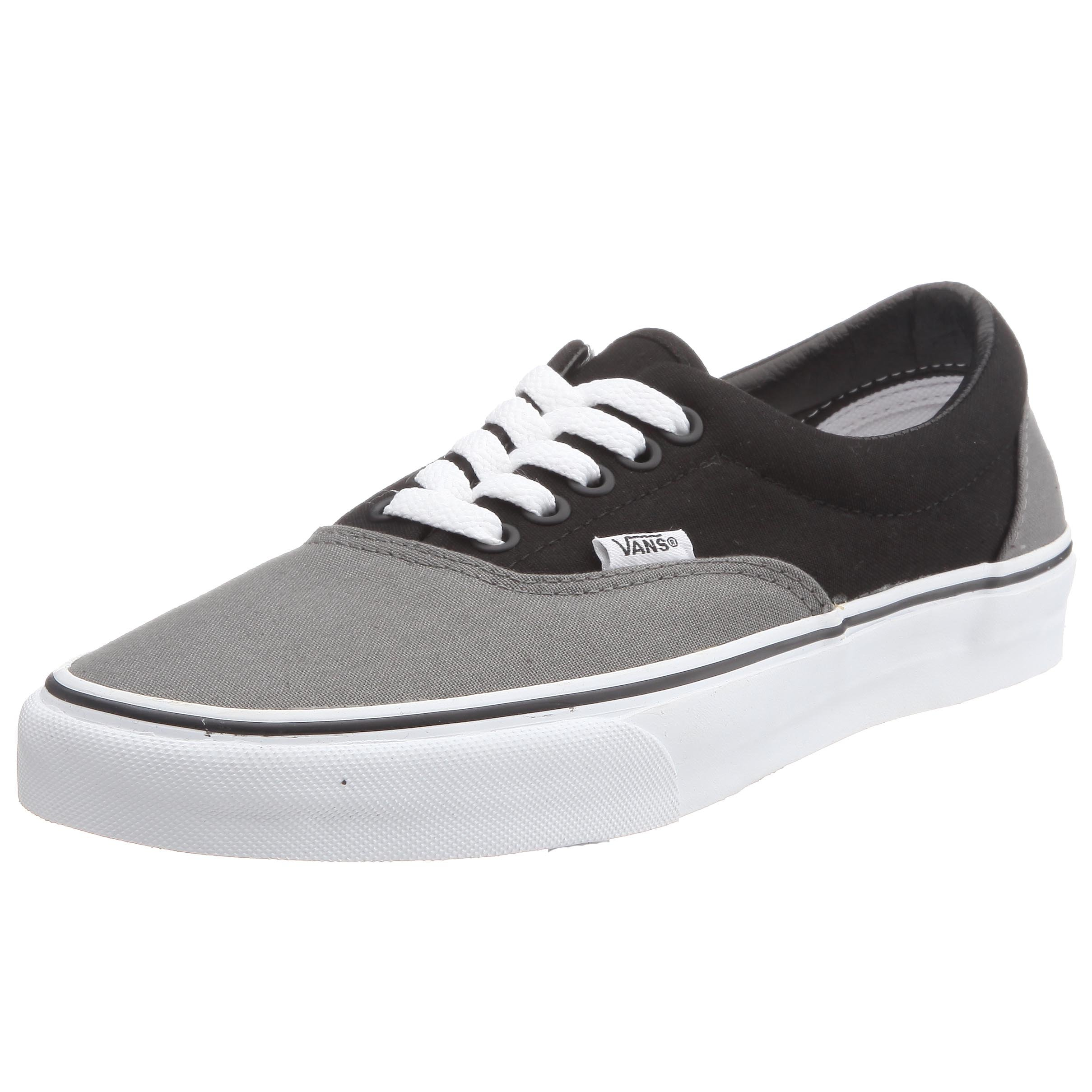 Vans VEWZNVY Unisex Era Canvas Skate Shoes,Pewter/Black,10 B(M) US Women/8.5 D(M) US Men by Vans