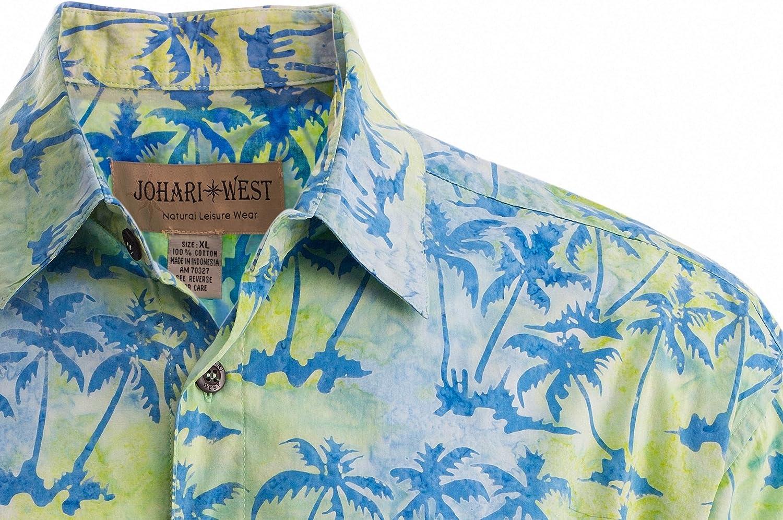 Johari West Cool Daze Mens Cotton Hawaiian Batik Shirt