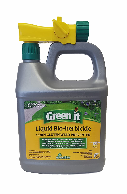 Green it 817504002726 Liquid Bio-Herbicide Corn Gluten Weed Preventer EFI272