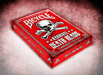 Bicycle Karnival Carnage Playing Cards - Poker Size jugando a las cartas