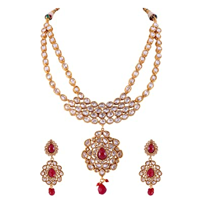 women nsmhaaaaadyuct jewellery uncut era diamond necklace set gold