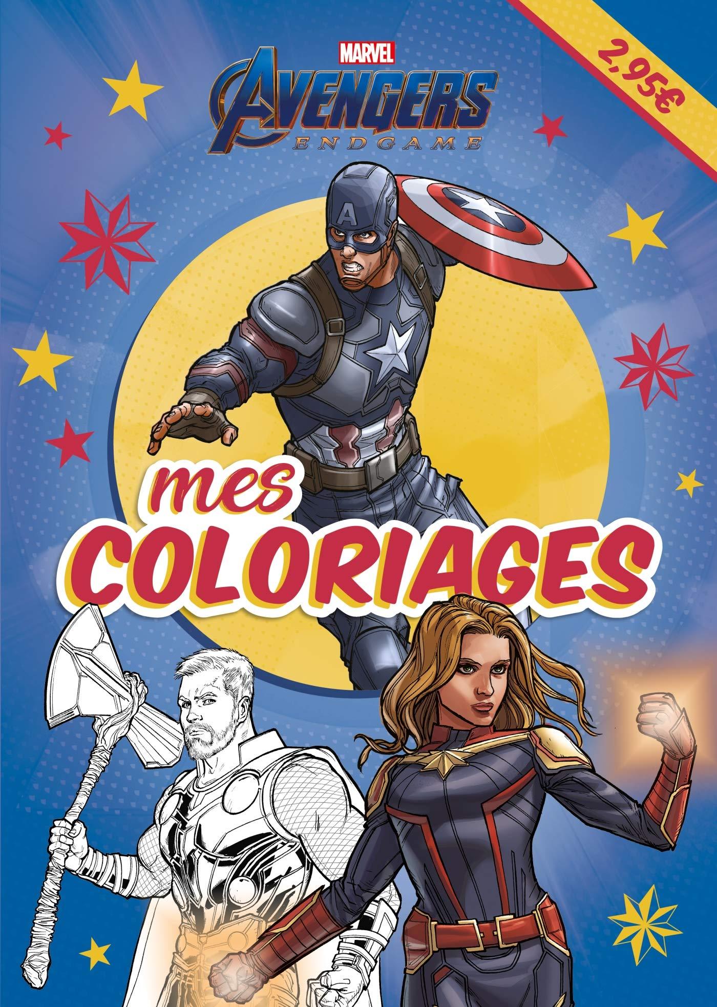 Marvel Mes Coloriages Endgame Amazon Fr Hachette