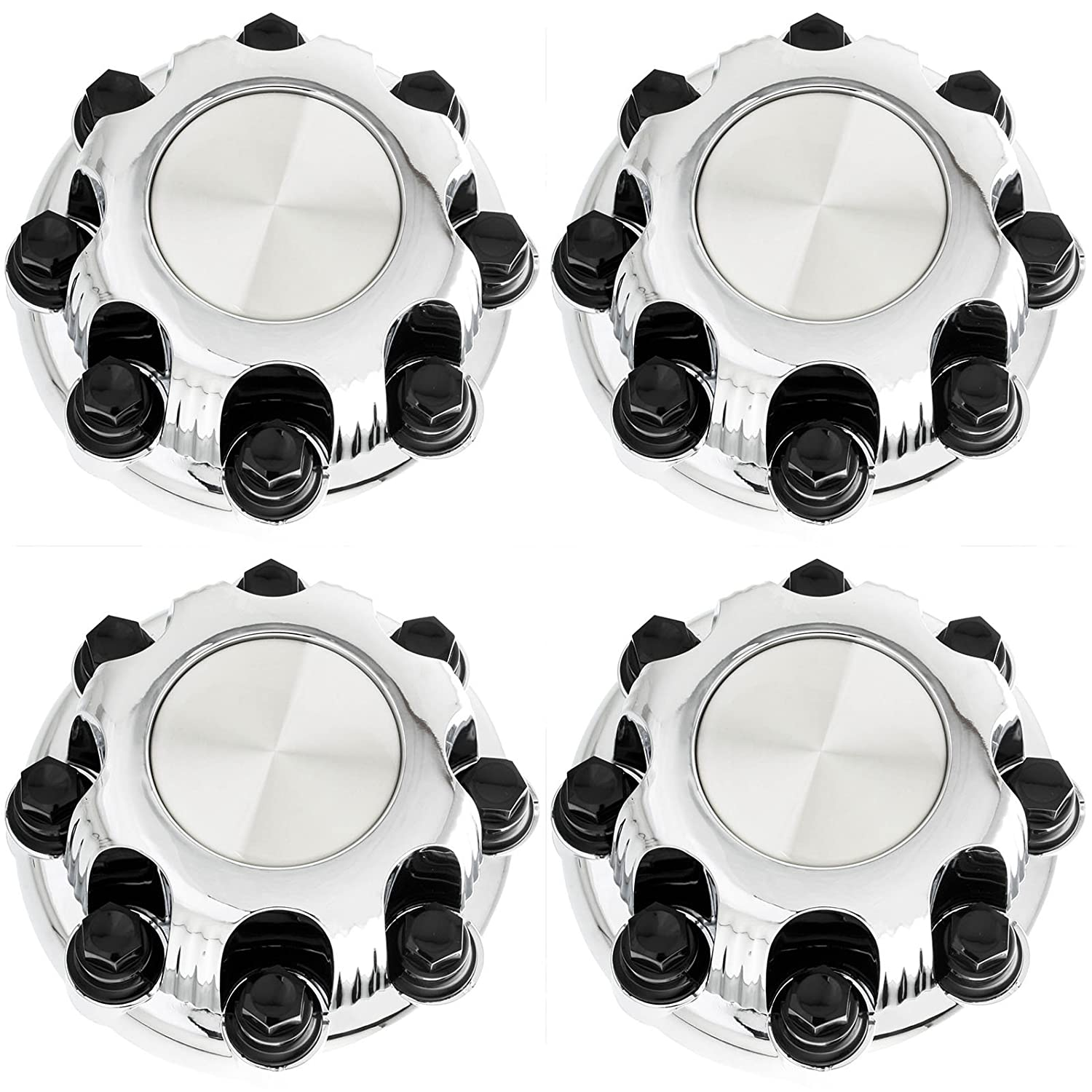 Set of 4 Replacement Aftermarket Center Caps Hub Cover Fits 16' Inch 8 Lug Wheel - Part Number: IWCC5079C Coast to Coast WCCC-5079-CH-SINGLE