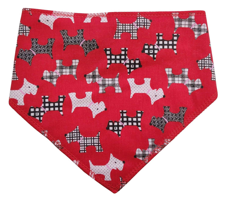 Medium Dogs Labrador, Dalmatian /& Staffies Spoilt Rotten Pets S3 Red Scottie Dog Design Dog Bandana Radley Fans Fancy Dress For Dogs