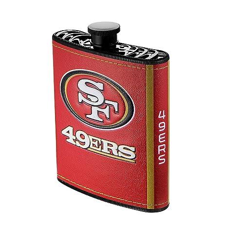 ab51220c Amazon.com: NFL San Francisco 49ers Plastic Hip Flask, 7-ounce ...