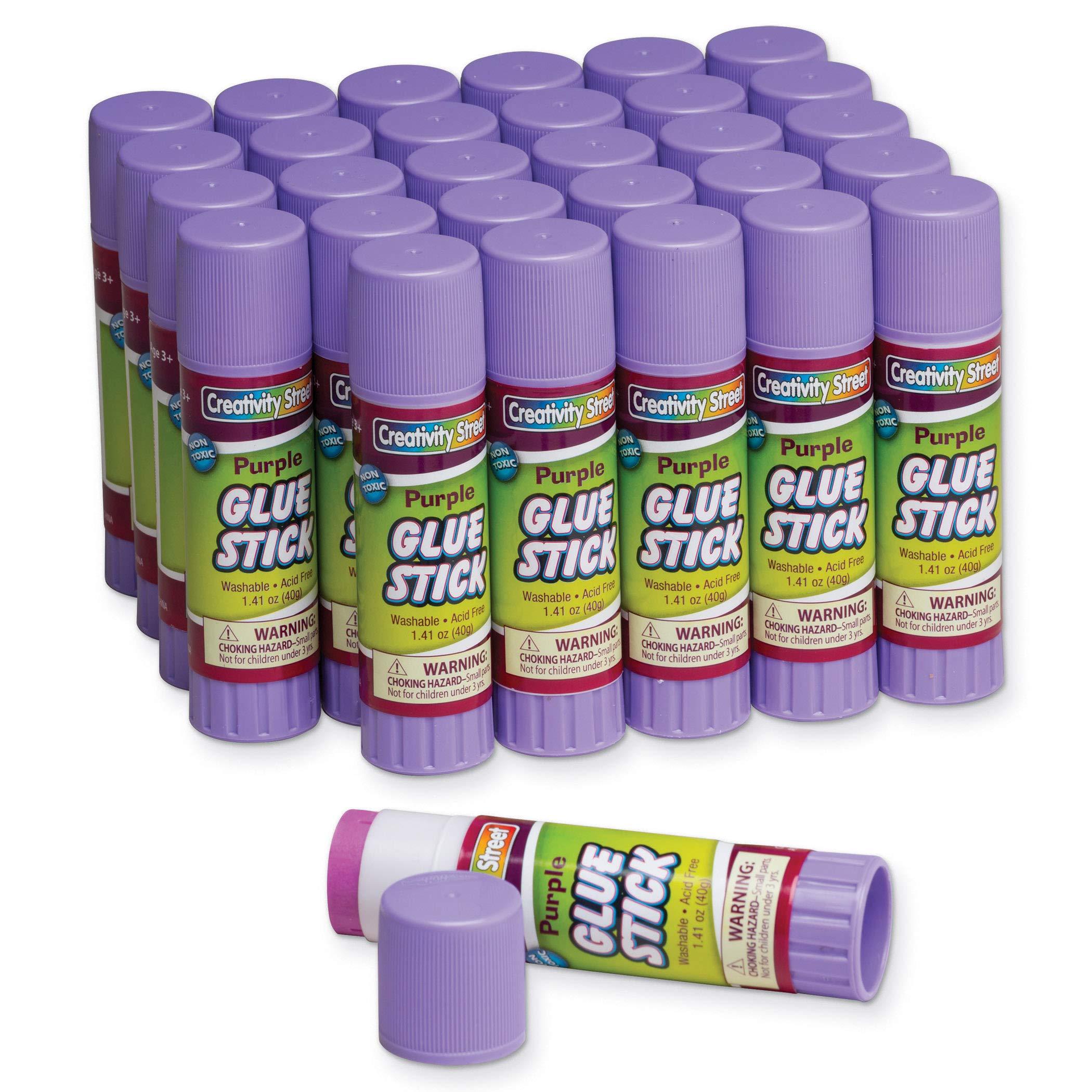 Creativity Street CK-338830 Glue Sticks, Purple, 1.41 oz., 30 Per Pack