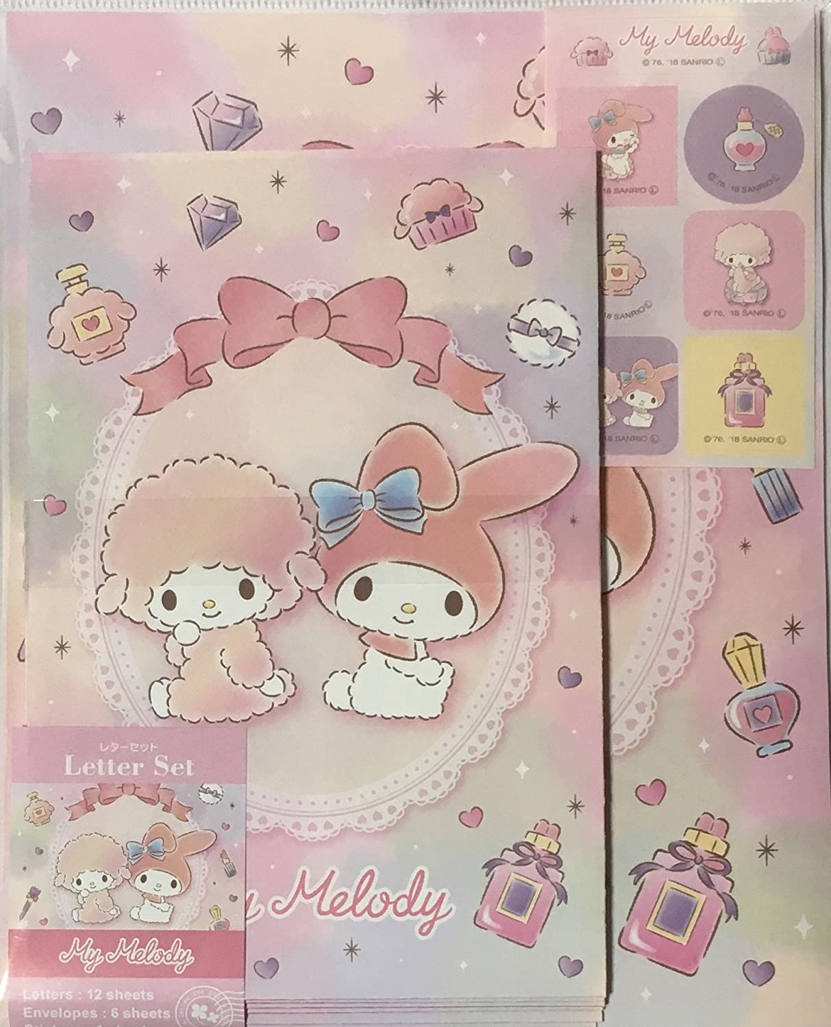 Hello Kitty Letter Set Sanrio Stationery Letters Envelopes And Stickers NEW
