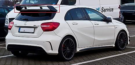 HJHNB Becquet arri/ère de Voiture en ABS l/éger Rear Spoiler l/èvre daile fen/être Couvercle de Coffre de Toit pour Mercedes 5 Portes /à hayon W176 de la Classe A180 A200 A250 A45 AMG Style 2013-2018
