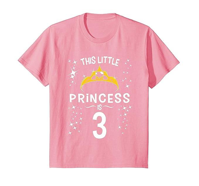 Amazon Kids 3rd Birthday Girls Princess T Shirt Tiara 3 Year