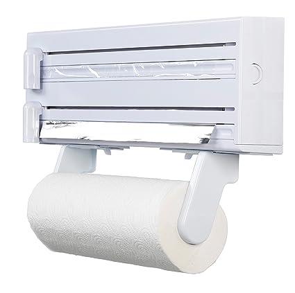 Amazon.com - Cling Film, Foil And Kitchen Towel Dispenser - Food ...