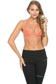 ac68eb63b16 Wishlist Women s Strappy O-Ring Lace Bralette Black at Amazon ...