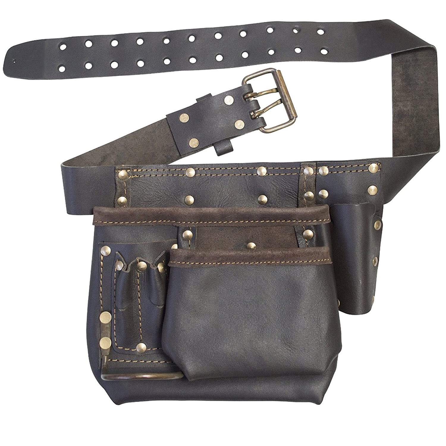 Brown 1 Pack Rolson Brown Single Tool Pouch with Belt