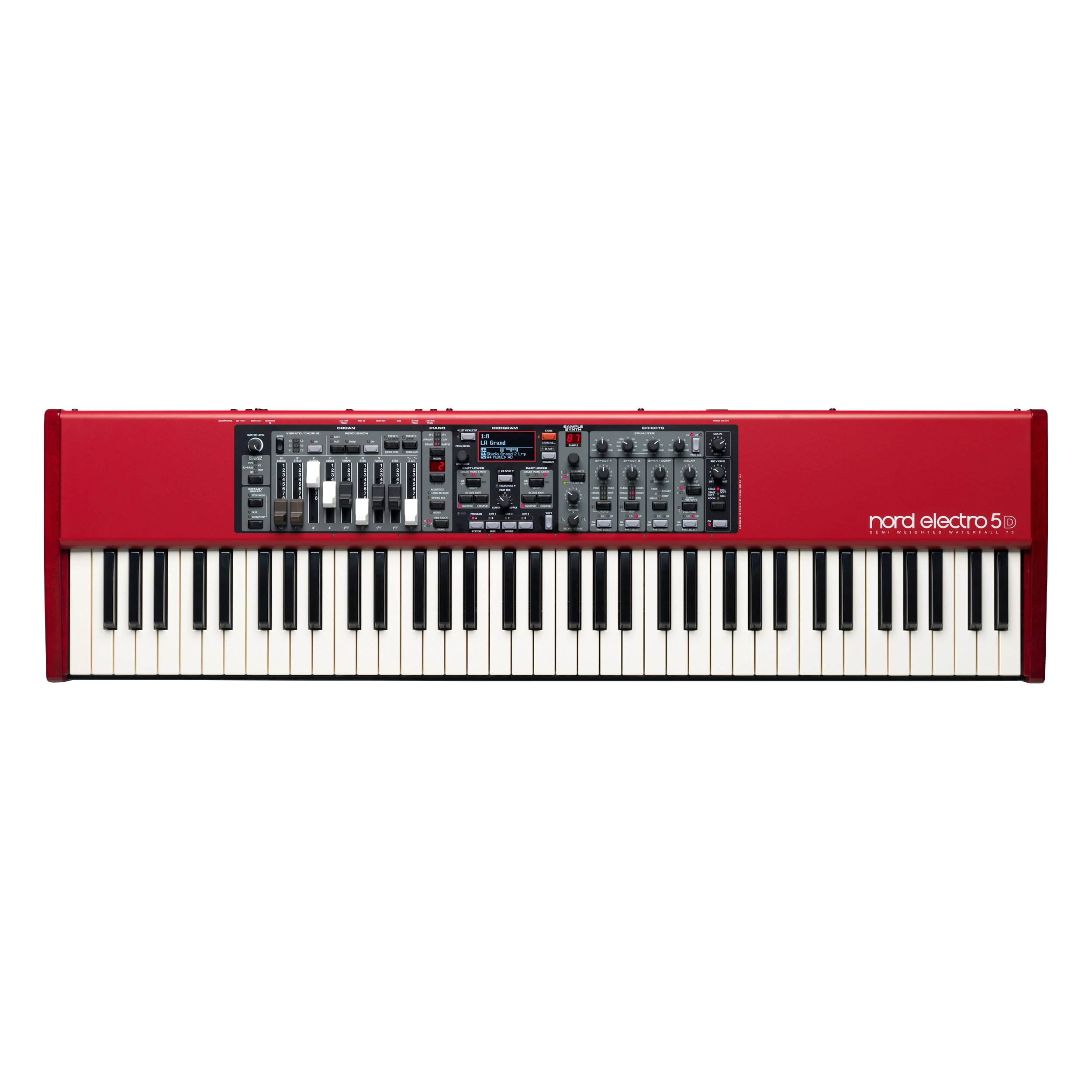 Nord Electro 5D 73 Velocity Sensitive 73-Key Semi-Weighted Waterfall Keyboard (NELECTRO5D-73) by Nord