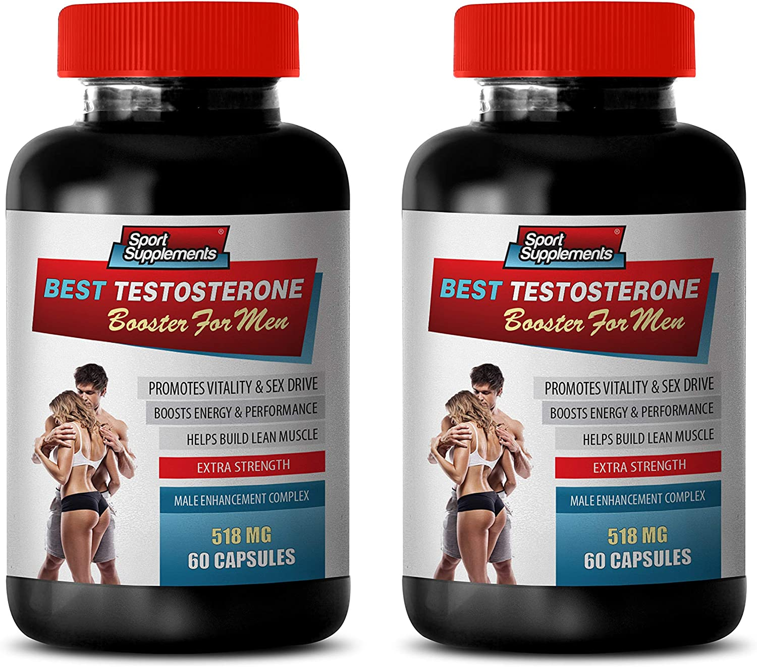 Amazon.com: Testosterone Booster Vitamins - Best Testosterone Booster for Men - Male Enhancement Complex - Fenugreek Dietary Supplement - 2 Bottles 120 Capsules: Health & Personal Care