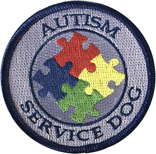 Amazon Com Autism Service Dog Sew On Patch For Vest Or Harness Home Kitchen